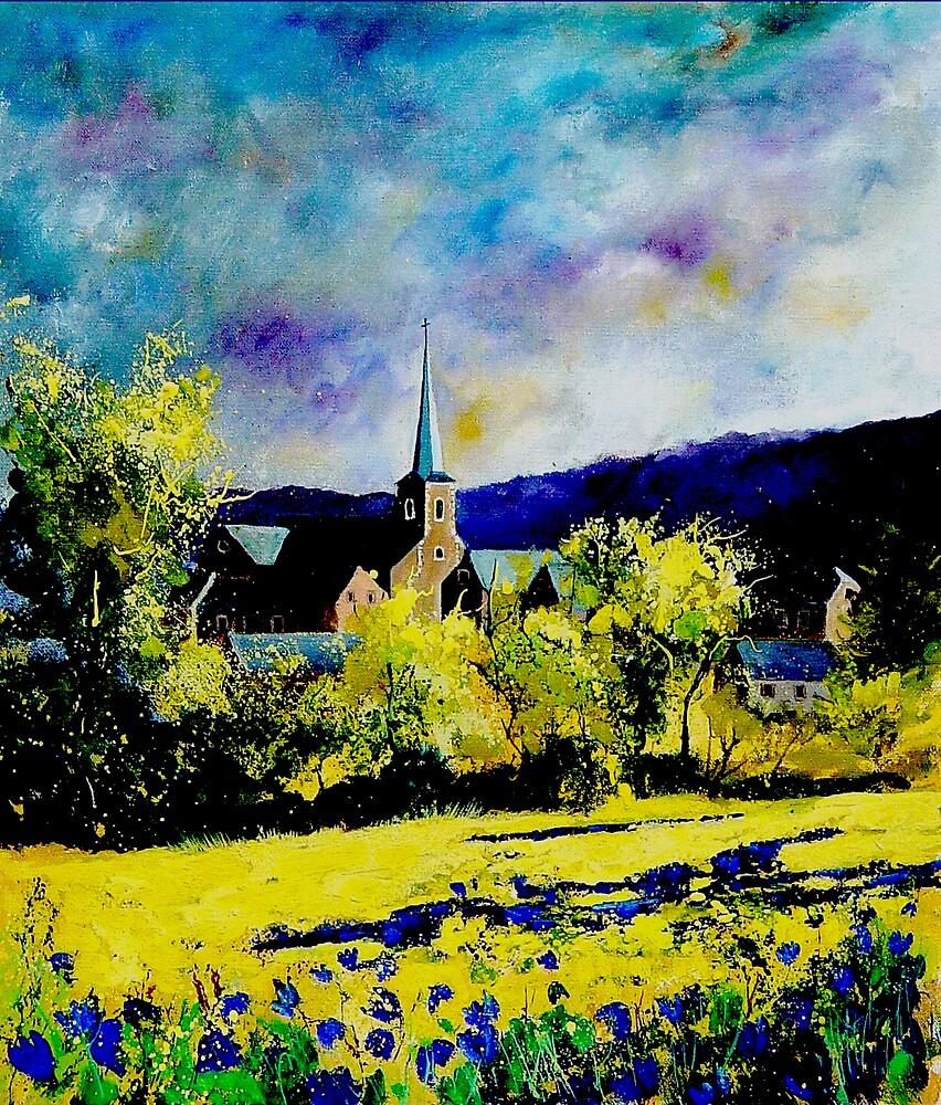 Hour Houyet village Belgium by calimero