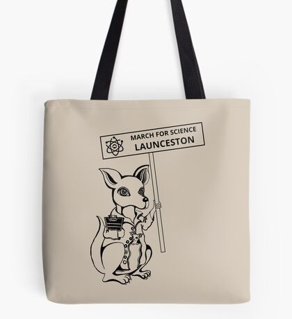 March for Science Launceston – Kangaroo, black Tote Bag