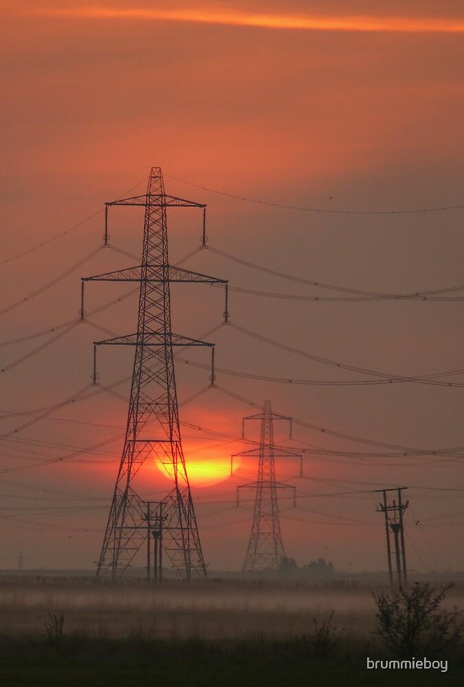 Pylons at Dawn by brummieboy