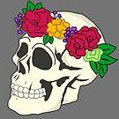 Blumen Krone Schädel von Dreamy Scribbles