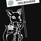 March for Science Melbourne – Kangaroo, white by sciencemarchau