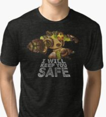I Will Keep You Safe - White Text Tri-blend T-Shirt