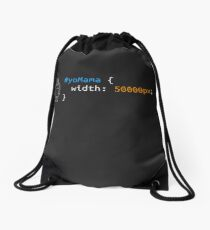 Yo Mama CSS - front end developer humour (webdev/coding) Drawstring Bag