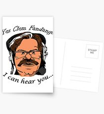 YES CLEM FANDANGO! - Toast of London Postcards