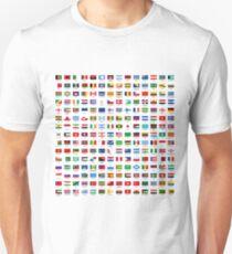 Weltflaggen Unisex T-Shirt