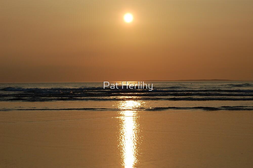 Reflecting Sun 2 - Ballybunnion Beach by Pat Herlihy