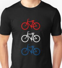 BICYCLE DESIGN 2 RED WHITE BLUE Unisex T-Shirt