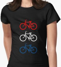 BICYCLE DESIGN 2 RED WHITE BLUE Women's Fitted T-Shirt