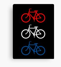 BICYCLE DESIGN 2 RED WHITE BLUE Canvas Print