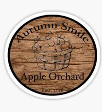 Autumn Smile Apple Orchard Sticker