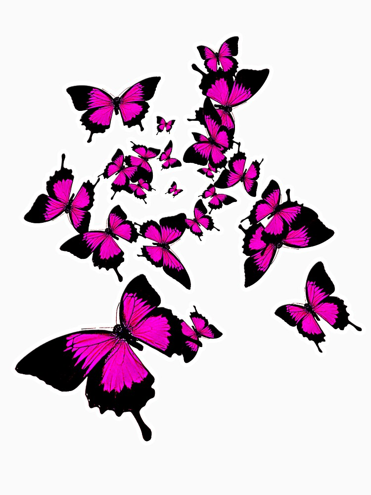 Butterflies (pink) by amorphousbeing