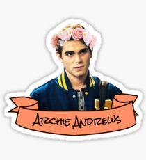 archie andrews flower crown sticker Sticker