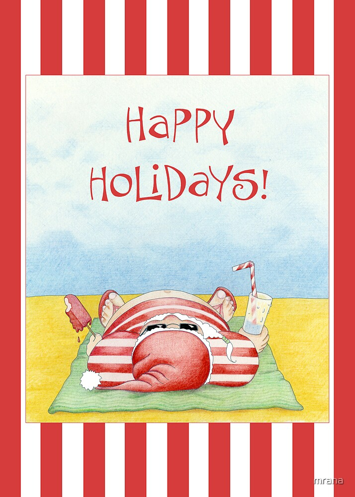Santa in the Sand Stripes by Mariana Musa