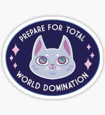 World Domination Cat (White) Sticker