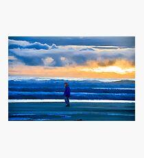 Rockaway Beach Oregon - Evening Walk Photographic Print