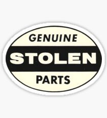 Vintage Genuine Stolen Parts Sticker