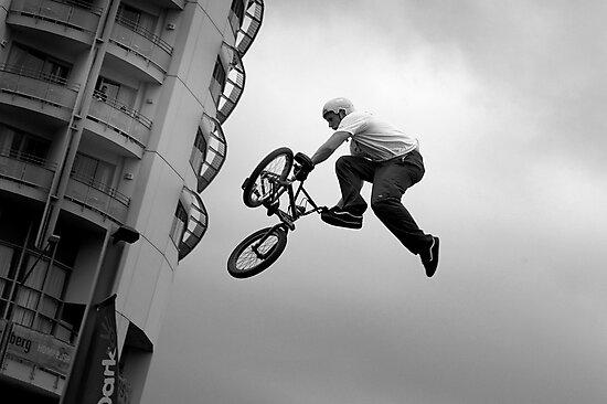 Bike versus gravity by Alan Bennett