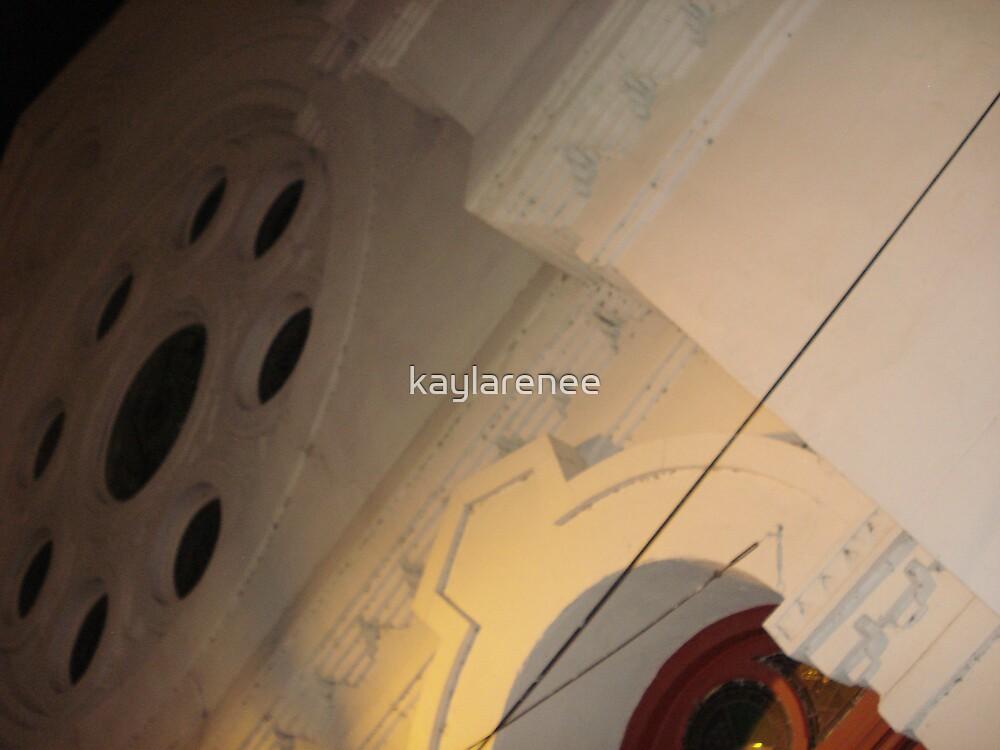 White church red door by kaylarenee