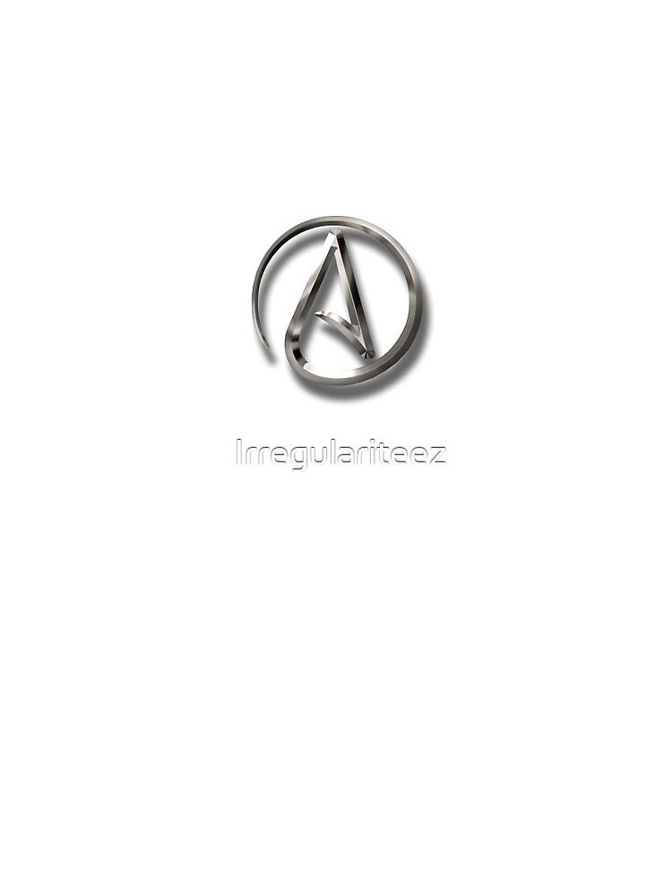 Atheist Logo Emblem Symbol Graphic T Shirt By Irregulariteez