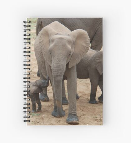 A BABY NEEDS FEEDING -  THE AFRICAN ELEPHANT – Loxodonta Africana Spiral Notebook