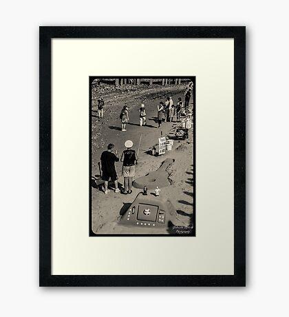 London Beach Framed Print