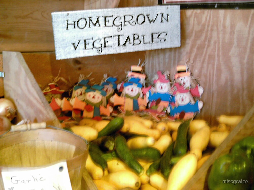 Home grown vegetables by missgraice