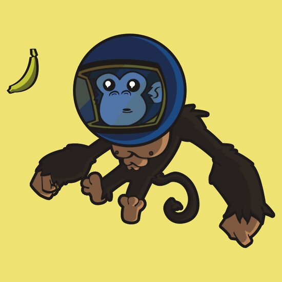 TShirtGifter presents: Monkey In Space