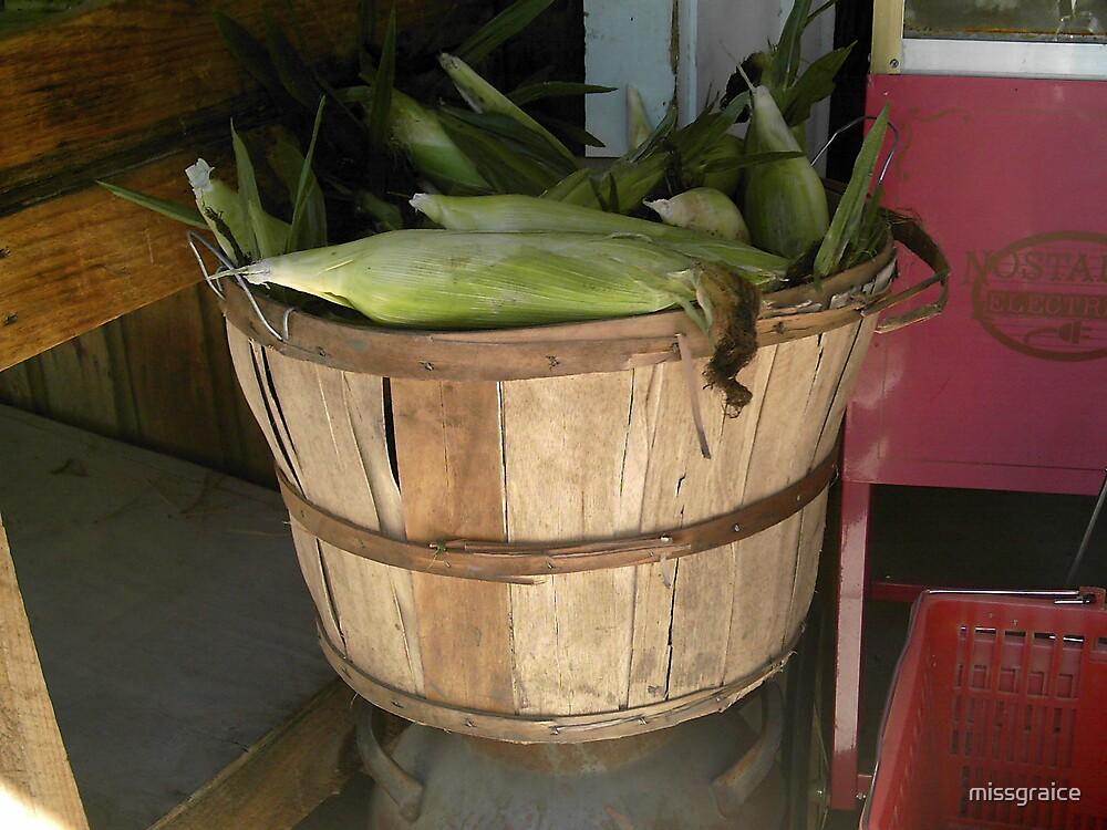 Corn in a basket by missgraice