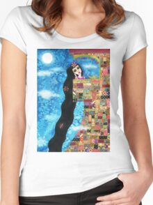 Rapunzels Moon Women's Fitted Scoop T-Shirt