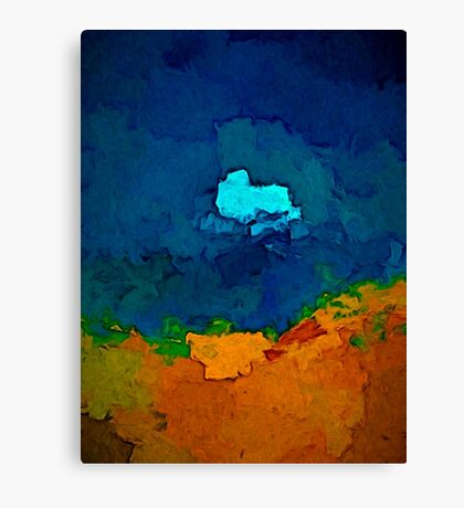 Gold Sand and Blue Sea Canvas Print