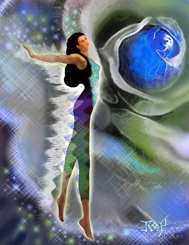 Dream Dance with Rose by Janet Boyd Art