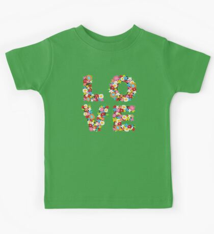 LOVE Spring Flowers   Red Kids Clothes