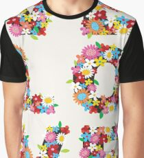 LOVE Spring Flowers | Red Graphic T-Shirt