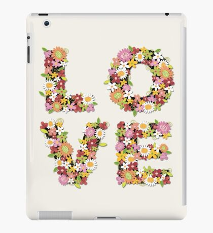 LOVE Spring Flowers | Pink iPad Case/Skin
