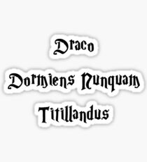 draco dormiens nunquam titillandus Sticker
