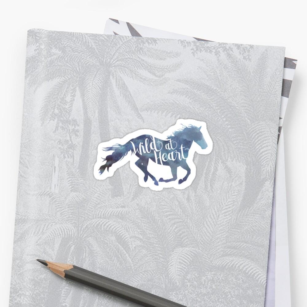 Wildes Pferd Aufkleber Sticker