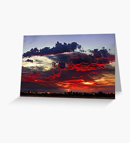 Sunrise Thunderstorm Greeting Card