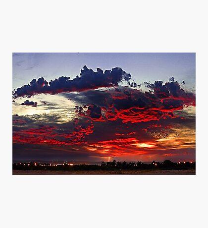Sunrise Thunderstorm Photographic Print