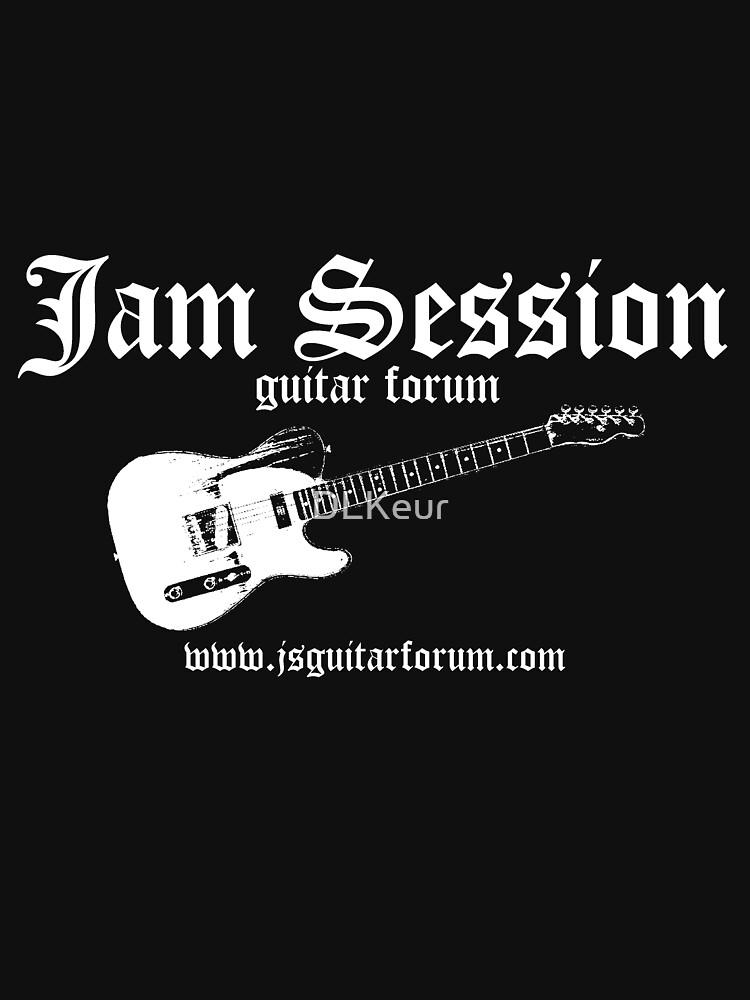 Jam Session Guitar 2 Black T-Shirt by Scot Kroeker. by DLKeur