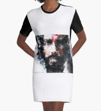 Abstract Face 06 Graphic T-Shirt Dress