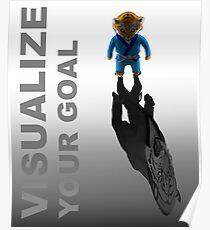 Visualize your goal Martial Arts T-shirt Mens Womens Boys Girls Poster