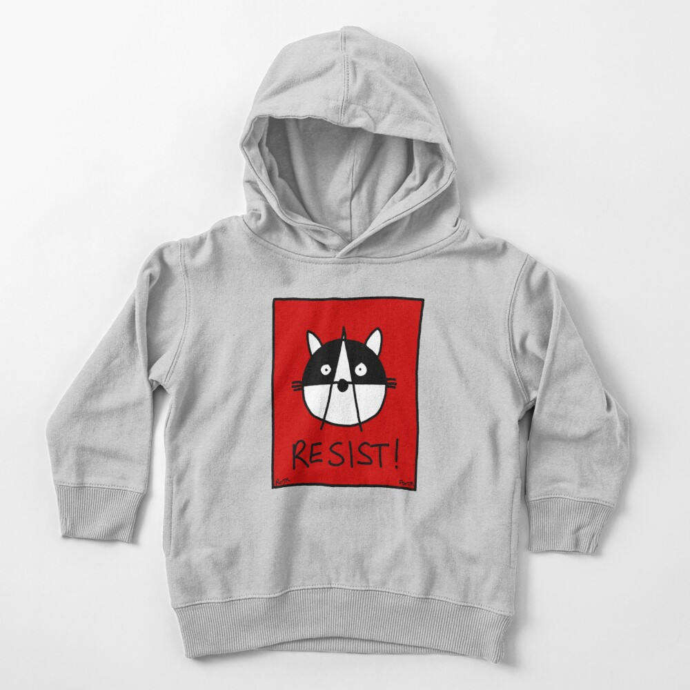 Resist! With the Raccoons of the Resistance Toddler Pullover Hoodie