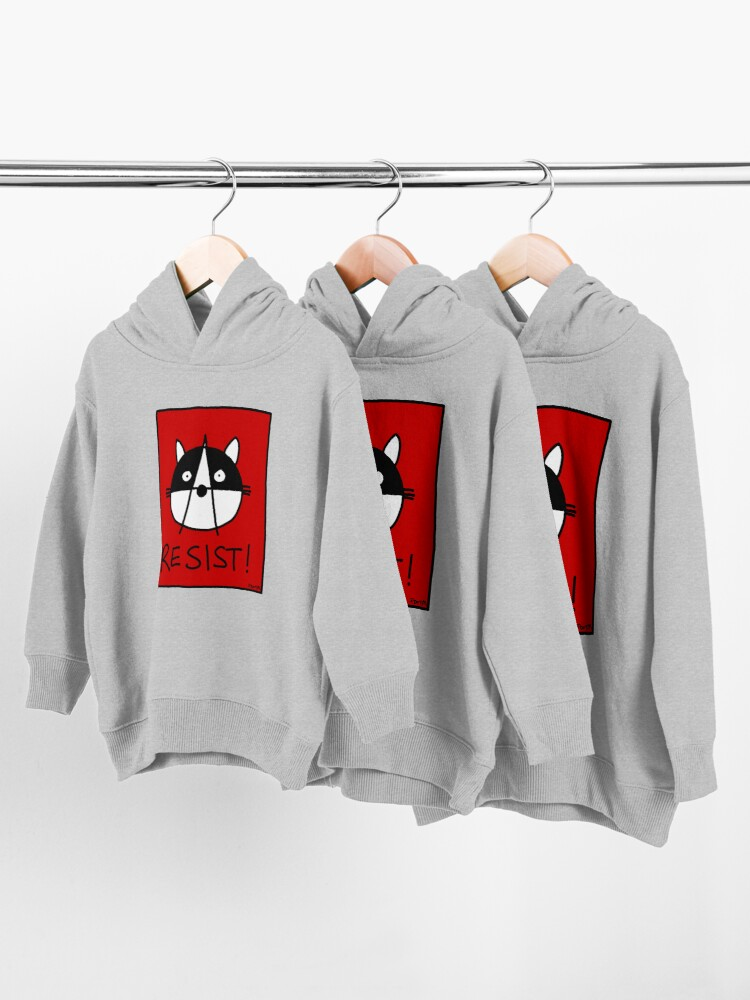 Alternate view of Resist! With the Raccoons of the Resistance Toddler Pullover Hoodie