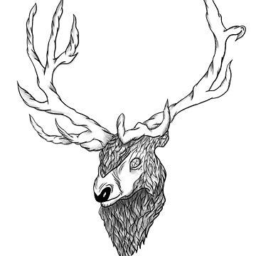 Elk's head by aivis001