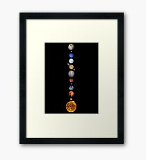 Solar System space astronomy fashion retro planets cool Framed Print