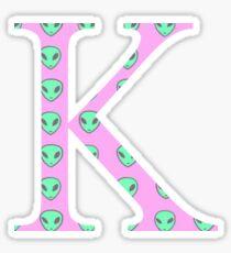 Kappa K Alien Pattern Greek Sorority Sticker