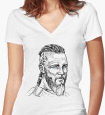 Ragnar Blue Eyes Women's Fitted V-Neck T-Shirt