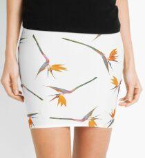 Bird of Paradise Pattern Mini Skirt
