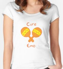 Cure Emo Women's Fitted Scoop T-Shirt