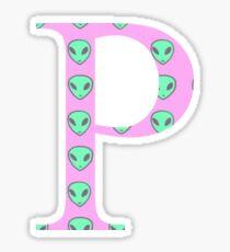 Rho P Alien Pattern Greek Sorority Sticker